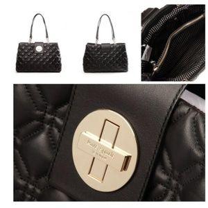 Kate Spade Astor Elena Black Leather Shoulder Bag